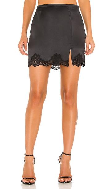 fleur du mal James Lace Slip Skirt in Black
