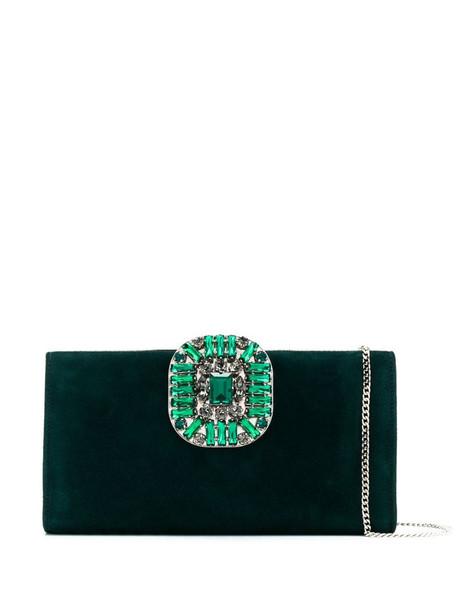 Jimmy Choo Leonis clutch bag in green