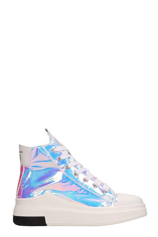 Cinzia Araia Opalescent Mesh Sneakers in silver