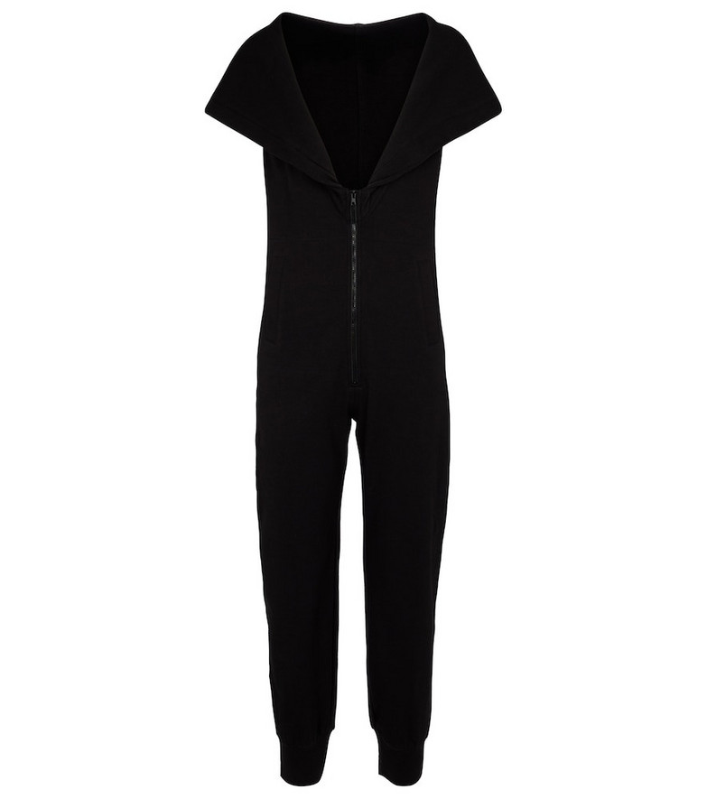 Norma Kamali Stretch-cotton jersey jumpsuit in black