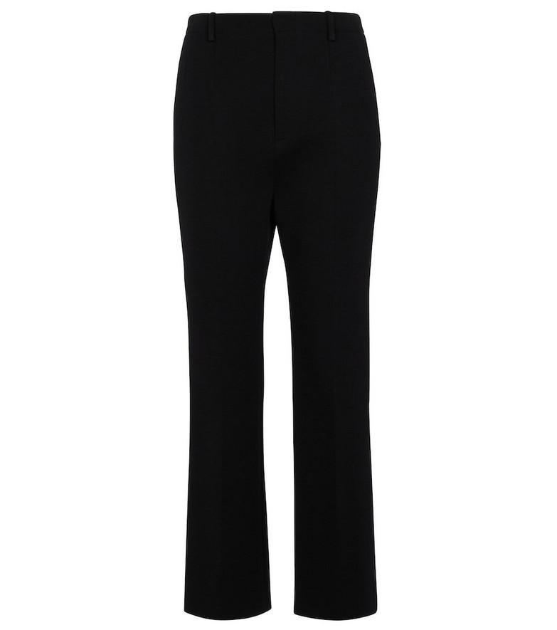 Saint Laurent Merino wool-blend straight pants in black