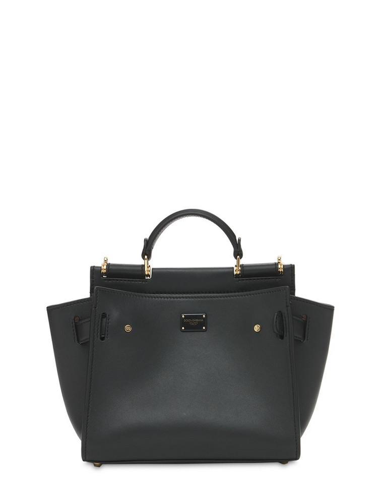 DOLCE & GABBANA Small Leather Sicily Soft Bag in black