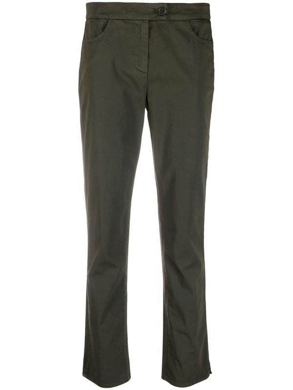 Aspesi button-fastening flared trousers in green