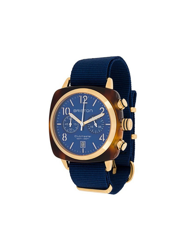 Briston Watches Clubmaster Classic 40mm watch in blue