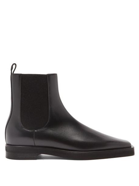 Totême - Square-toe Leather Chelsea Boots - Womens - Black