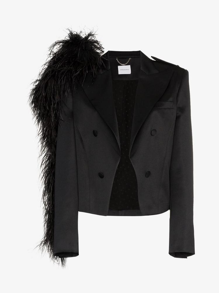 Magda Butrym lubec silk blazer in black
