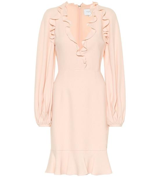 Giambattista Valli Ruffled crêpe mini dress in pink