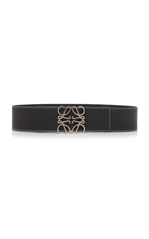 Loewe Anagram Leather Belt in black