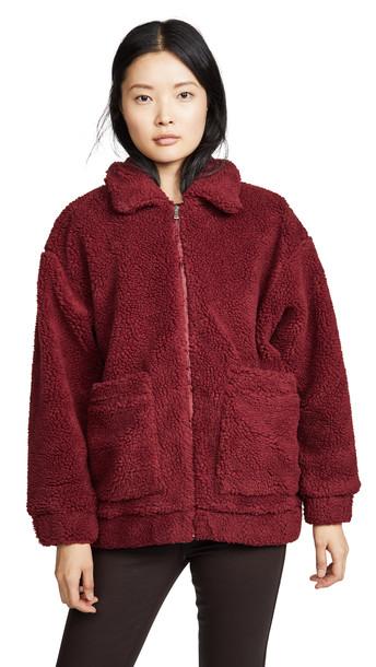 I.AM.GIA I.AM. GIA Pixie Coat in burgundy