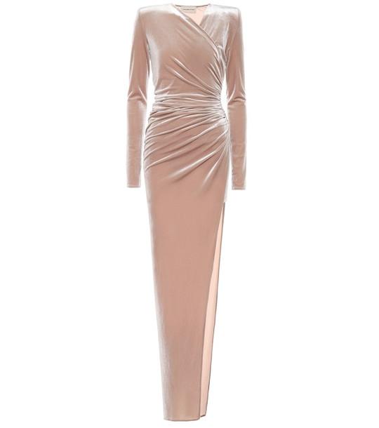 Alexandre Vauthier Velvet gown in brown