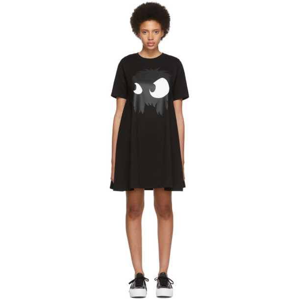 McQ Alexander McQueen Black Mad Chester Babydoll Dress