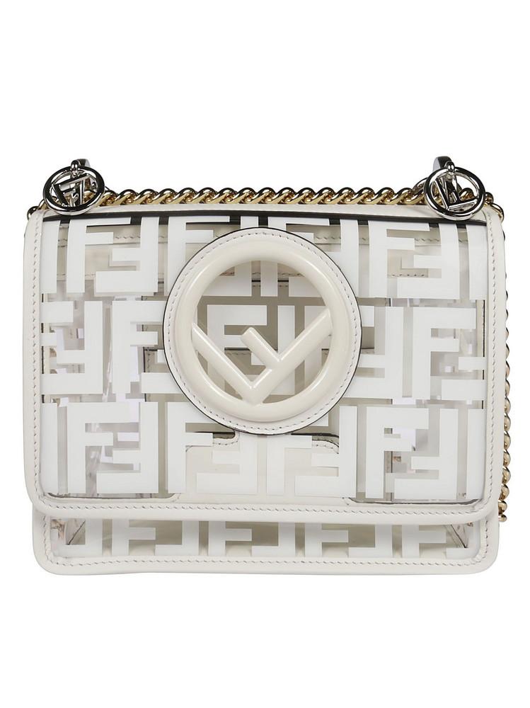 Fendi S Kan I F Shoulder Bag in white