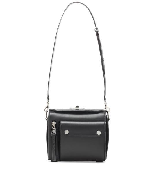 Alexander McQueen Military Box leather shoulder bag in black