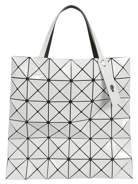 Bao Bao Issey Miyake Geometric Square Tote in gray / ivory