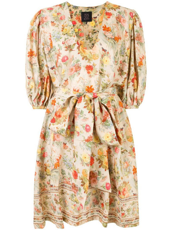 Romance Was Born Foxworth Hall floral midi dress in yellow