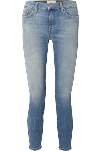 Current/Elliott - The Caballo Cropped High-rise Skinny Jeans - Mid denim