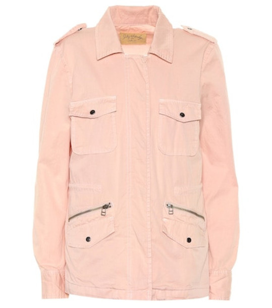 Velvet Ruby cotton jacket in pink