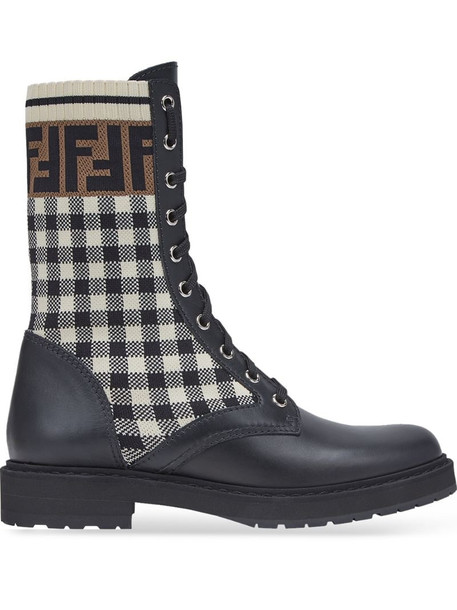 Fendi Rockoko FF biker boots in black