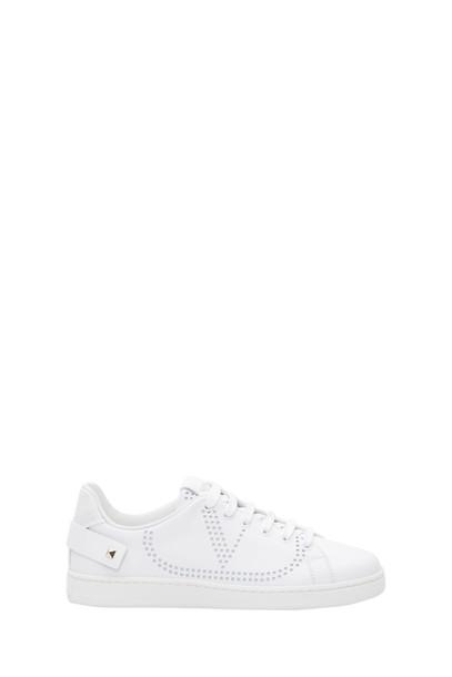 Valentino Garavani Backnet Low-top Sneaker With Vlogo Detail in bianco