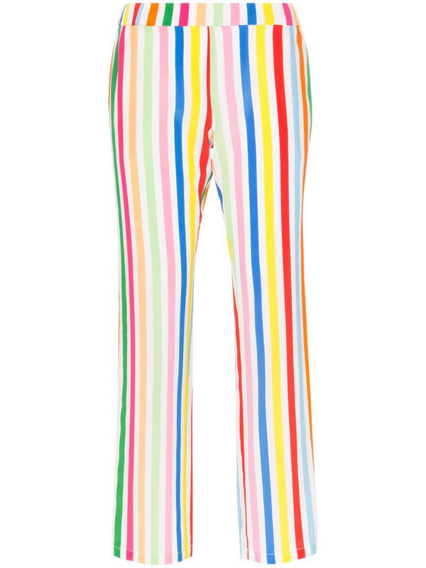 Mira Mikati striped silk trousers in yellow