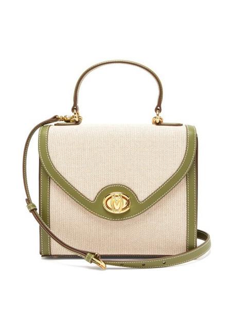 Mark Cross - Valentina Monogram Canvas Handbag - Womens - Khaki Multi