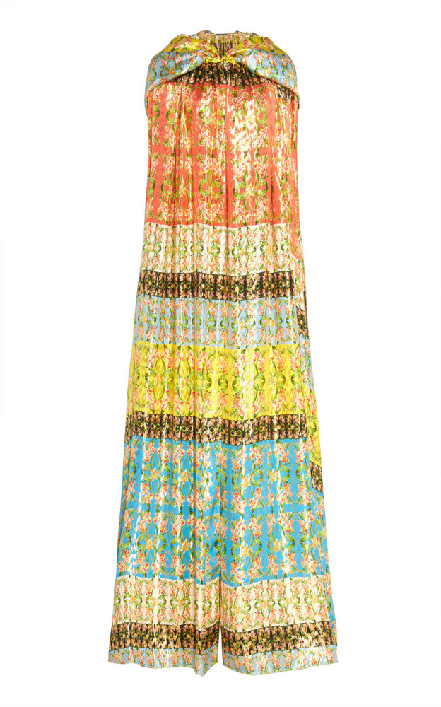 Monique Lhuillier Lame Printed Hooded Cape in multi