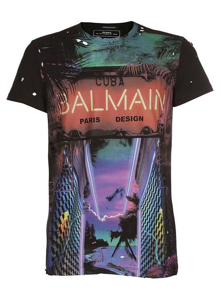 Balmain Cuba Logo Print T-shirt