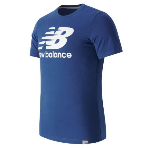 New Balance 63554 Men's Classic SS Logo Tee - Blue (MT63554AT)