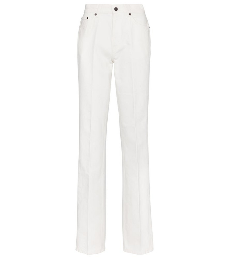 The Row Carlton mid-rise straight jeans in white
