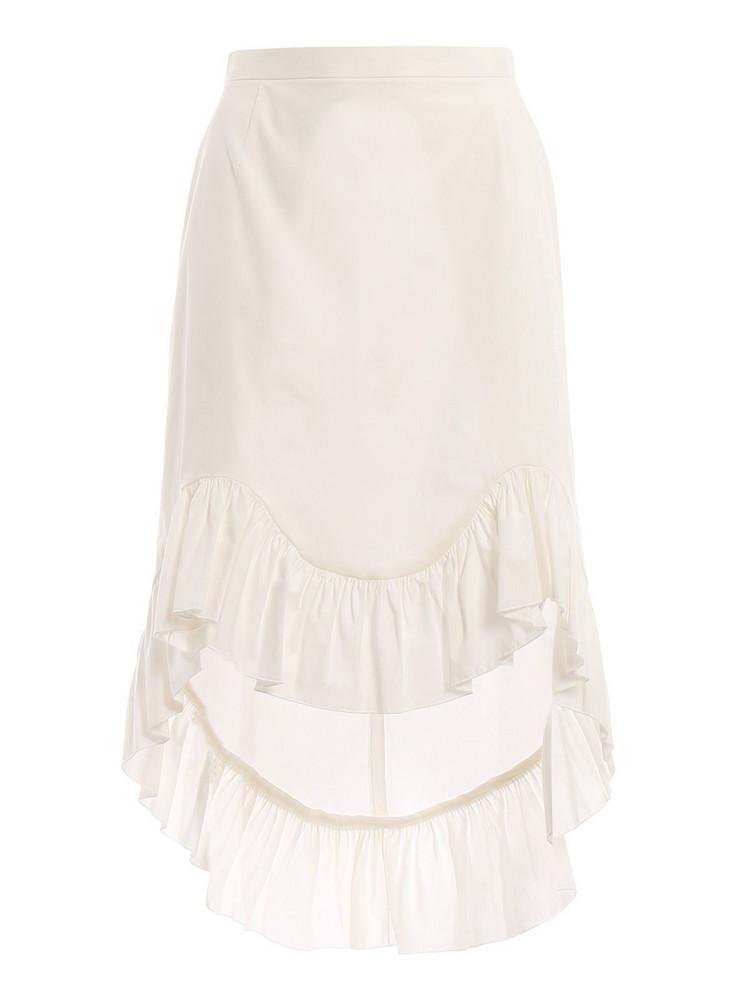 Blugirl Ruffled Hem Skirt in ecru
