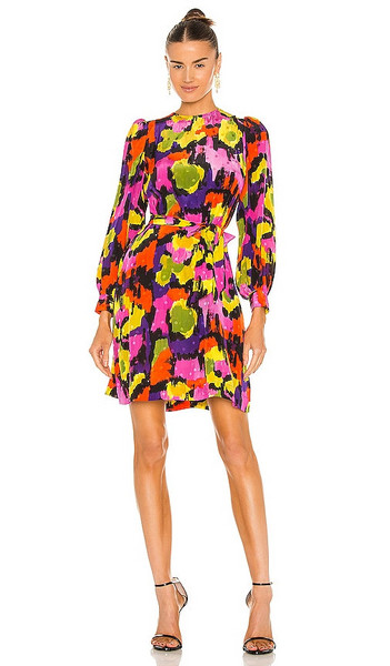 Essentiel Antwerp Zingseng Mini Dress in Purple,Pink in black
