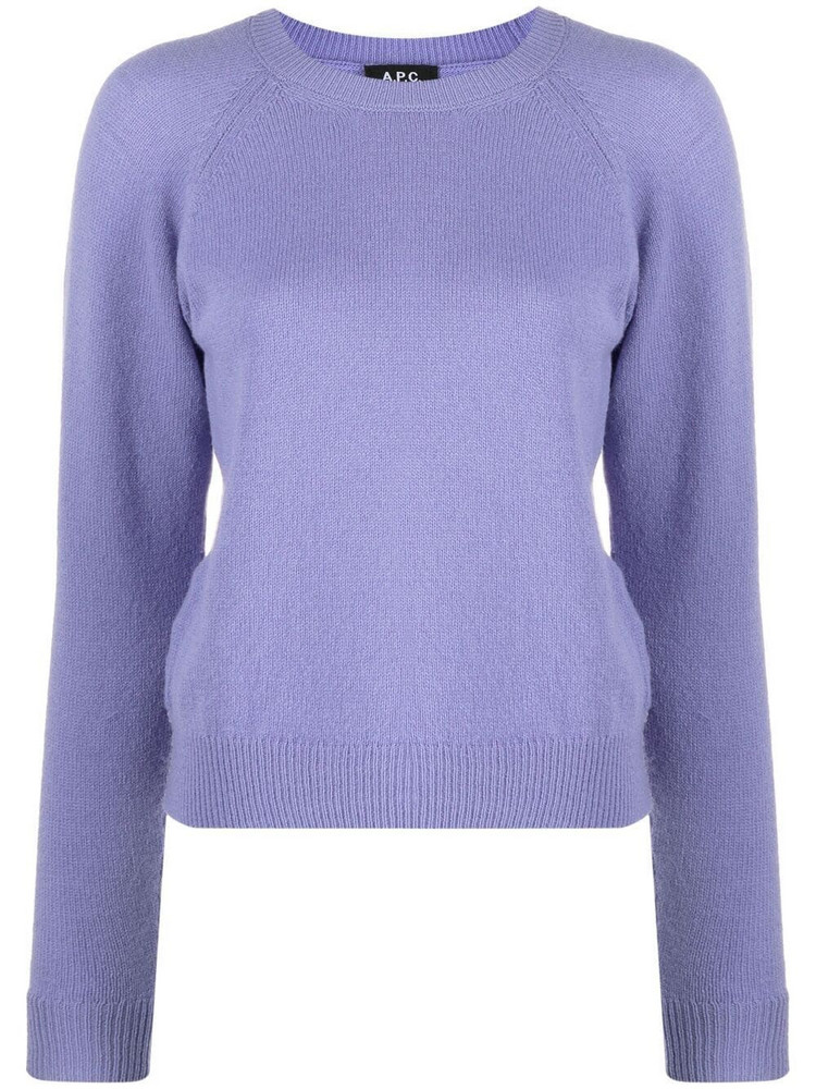 A.P.C. A.P.C. fine-knit jumper - Purple