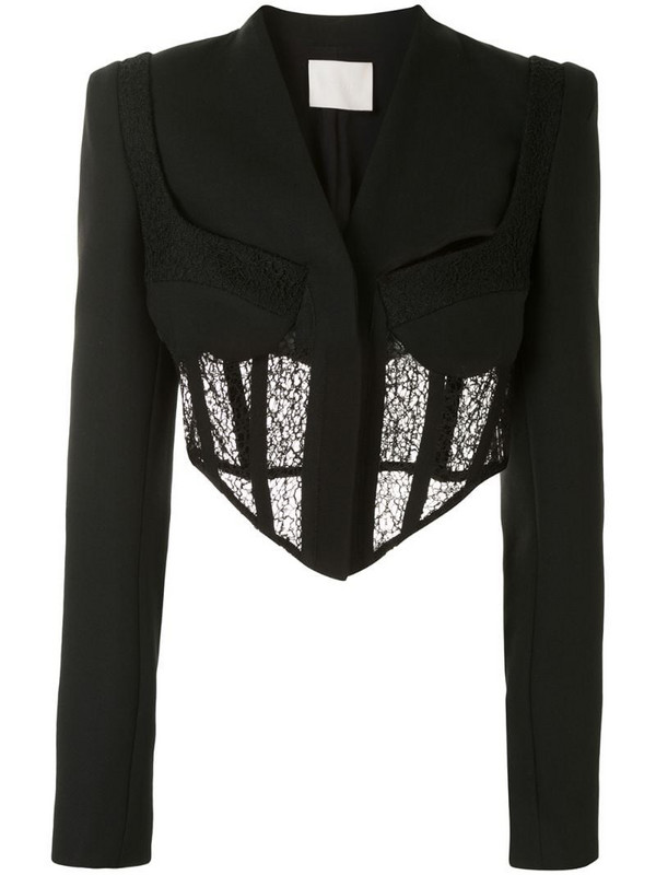 Dion Lee tailored corset jacket in black