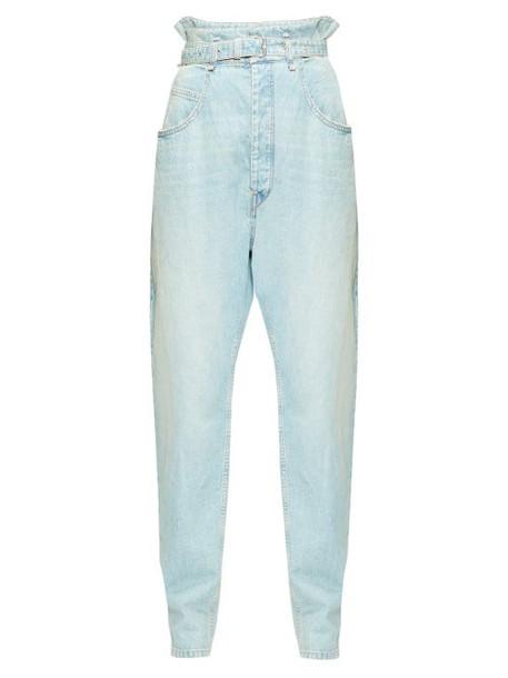 Isabel Marant Étoile - Gloria Paperbag-waist Jeans - Womens - Light Blue