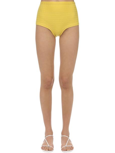 FELLA SWIM High Waist Marco Tile Bikini Bottoms in yellow