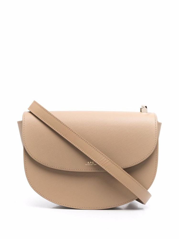 A.P.C. A.P.C. foldover leather shoulder bag - Neutrals