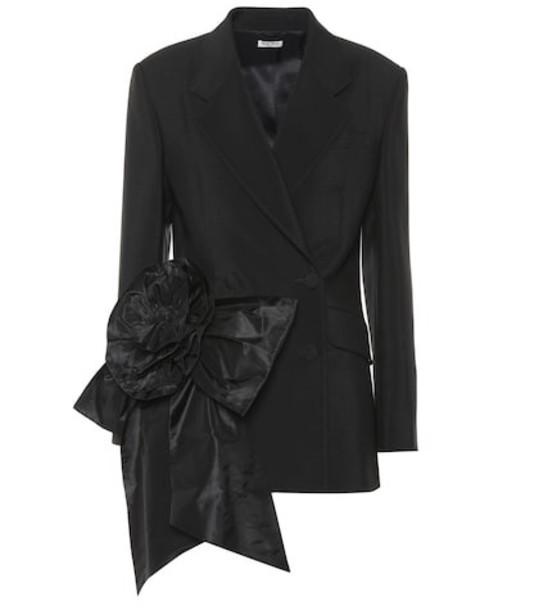Miu Miu Embellished mohair and wool blazer in black