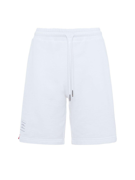 THOM BROWNE Cotton Jersey Shorts in white