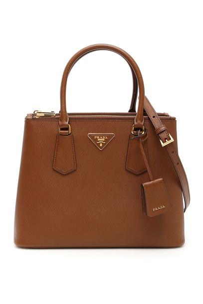 Prada Saffiano Galleria Bag in brown