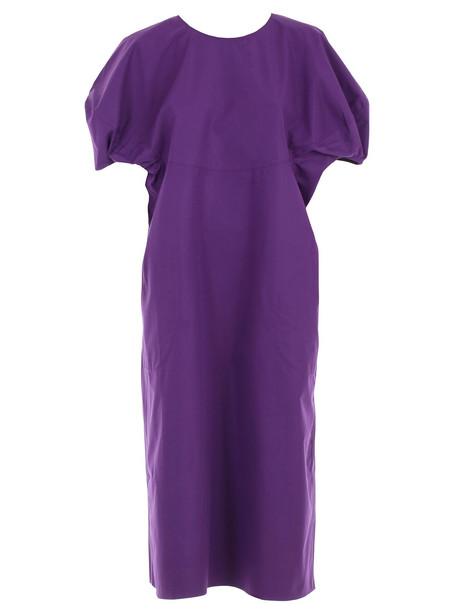 Sofie D'hoore Poplin Sleeve Dress in violet