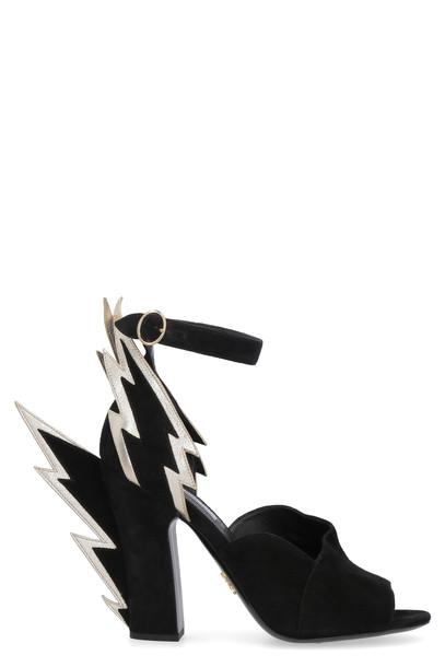 Prada Suede Sandals in black
