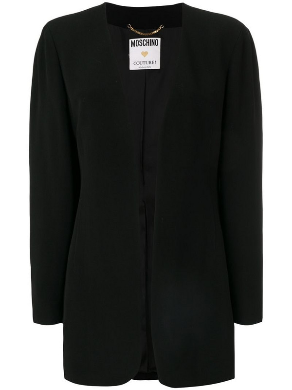 Moschino Pre-Owned fitted jacket in black