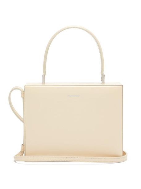 Jil Sander - Case Small Leather Cross Body Bag - Womens - White