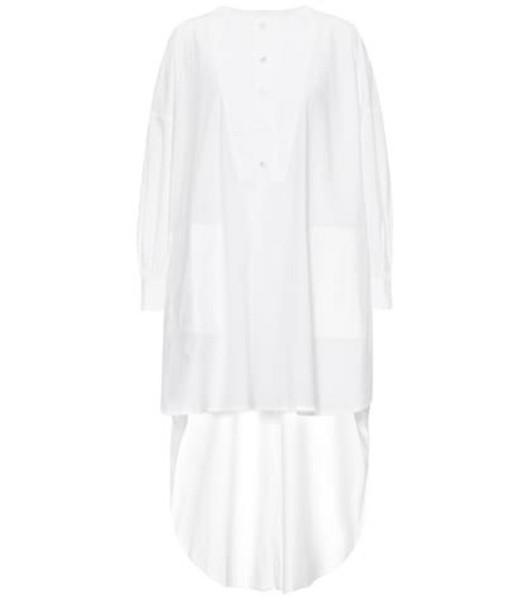 Golden Goose Deluxe Brand Asymmetric cotton dress in white