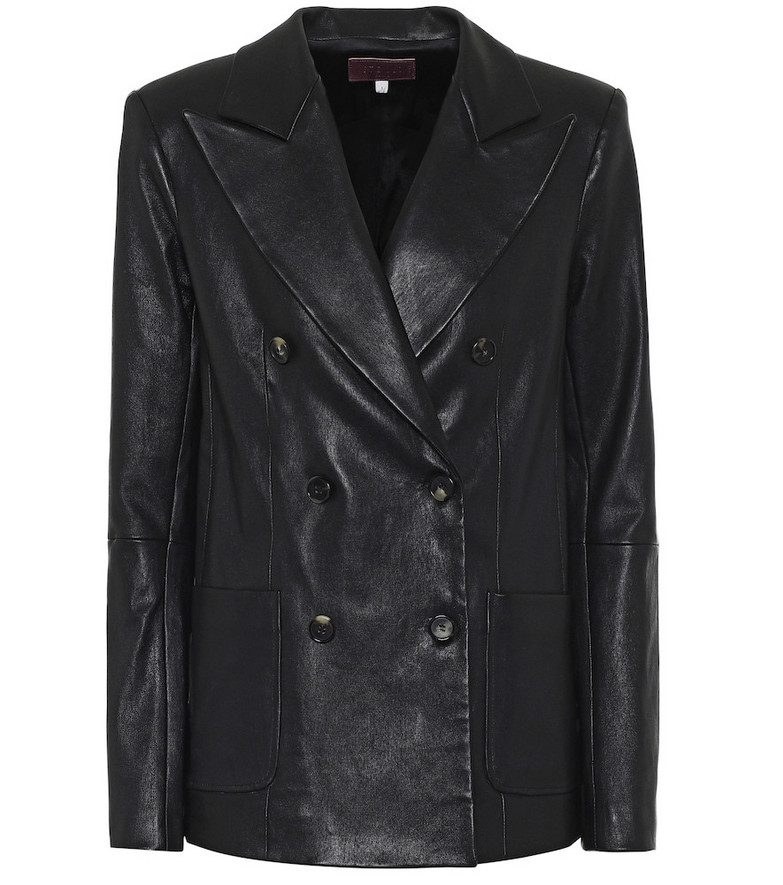 Stouls Jones leather blazer in black