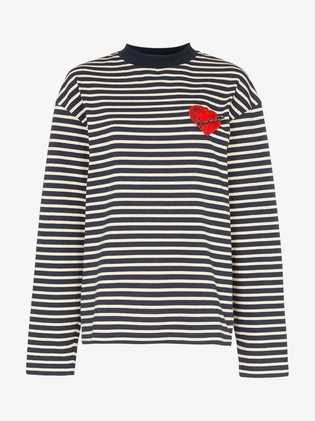 Palm Angels Pin My Heart striped top