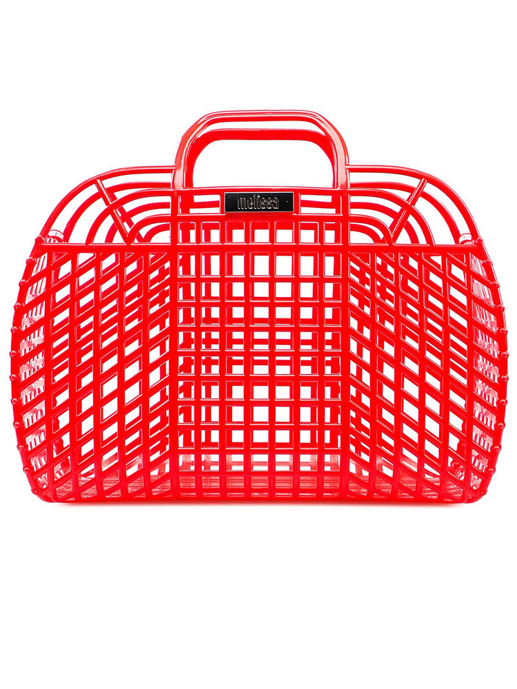 Melissa Perforated Tote in red