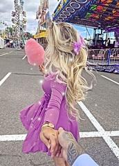 dress,purple long sleeves wrap dress and purple hair bow