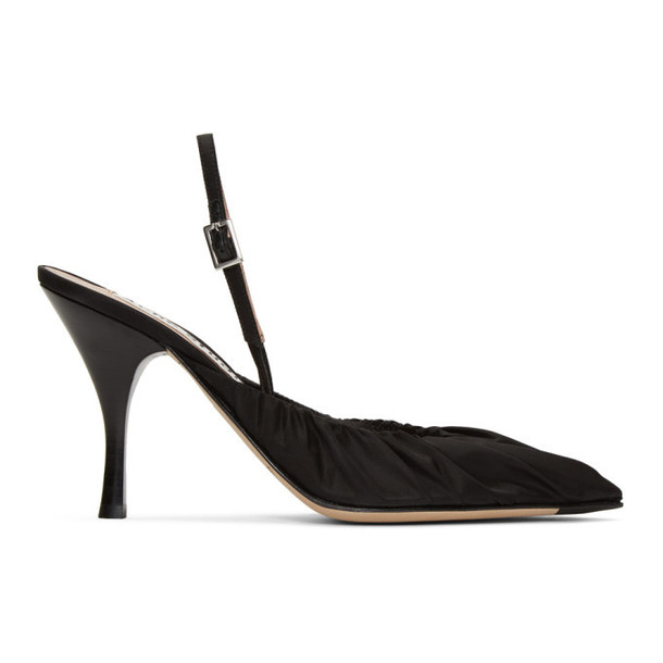 Acne Studios Black Beatrice Slingback Heels