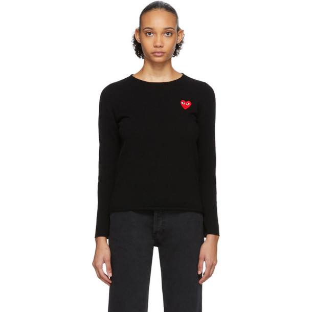 Comme des Garcons Play Black Heart Patch Sweater